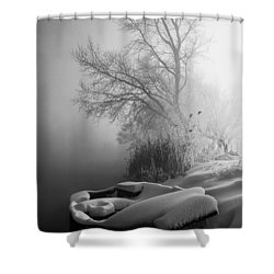 Ice Pier Shower Curtain