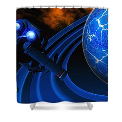 Ice Planet Shower Curtain by Corey Ford