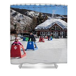Ice Rink In Downtown Aspen Shower Curtain