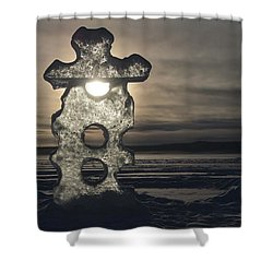 Ice Sculpter Shower Curtain