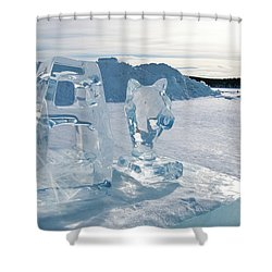 Ice Sculpture Shower Curtain by Tamara Sushko