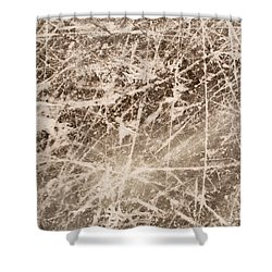 Shower Curtain featuring the photograph Ice Skating Marks by John Williams