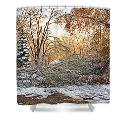 Ice Storm...day 2 Shower Curtain by Steve Harrington