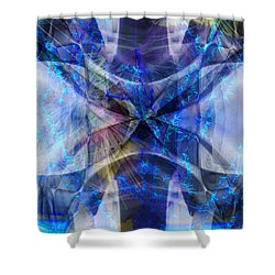 Ice Structure Shower Curtain