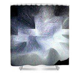Ice Throne Abstract Shower Curtain by Aliceann Carlton