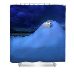 Shower Curtain featuring the photograph Ice Volcano by John Poon