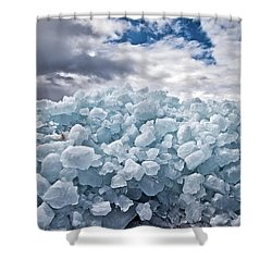 Ice Wall Shower Curtain by Brian Boudreau