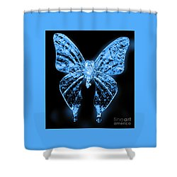 Ice Wing Butterfly Shower Curtain by Cassandra Buckley