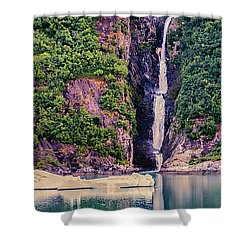 Iceberg And Waterfall Shower Curtain