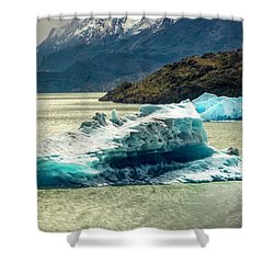 Iceberg Shower Curtain by Andrew Matwijec