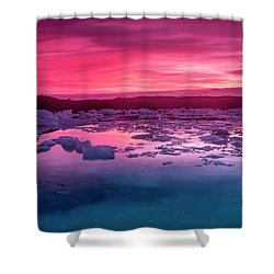 Iceberg In Jokulsarlon Glacial Lagoon Shower Curtain