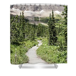 Iceberg Lake Trail Forest Shower Curtain