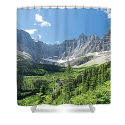 Iceberg Lake Trail - Glacier National Park Shower Curtain