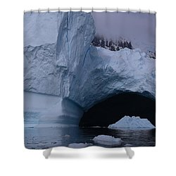 Shower Curtain featuring the photograph Iceberg Passthrough by Andrei Fried