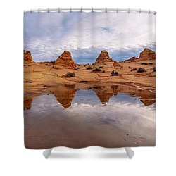 Shower Curtain featuring the photograph Ice Capades by Dustin  LeFevre