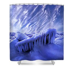 Shower Curtain featuring the photograph Iced Blue by Phil Koch
