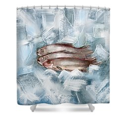 Iced Fish Shower Curtain