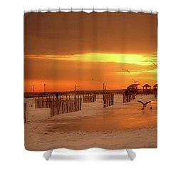 Iced Sunset Shower Curtain