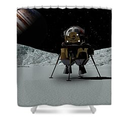 Icefield Landing Shower Curtain by David Robinson