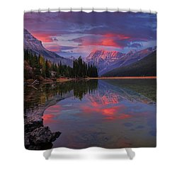 Icefields Parkway Autumn Morning Shower Curtain