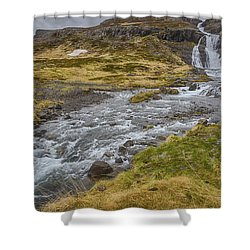 Iceland Fjord Shower Curtain