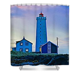 Iceland Lighthouse Shower Curtain