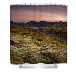 Iceland Sunset Shower Curtain by Chris McKenna