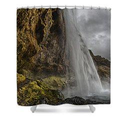 Iceland Waterfall Shower Curtain
