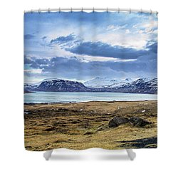 Icelandic Blues Shower Curtain