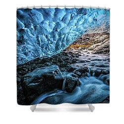 Icelandic Ice Cave Shower Curtain