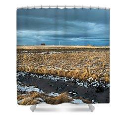 Shower Curtain featuring the photograph Icelandic Landscape by Dubi Roman
