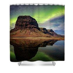 Icelanding Aurora Shower Curtain