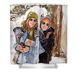 Shower Curtain featuring the painting Icicle by Anne Gifford