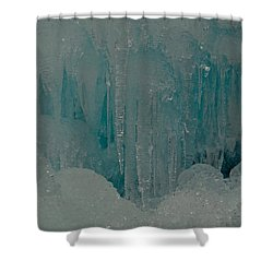 Icicle Blue Beauty Shower Curtain