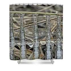 Shower Curtain featuring the photograph Icicles On A Stick by Glenn Gordon
