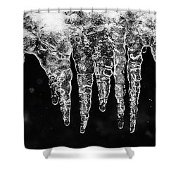 Icicles I Shower Curtain