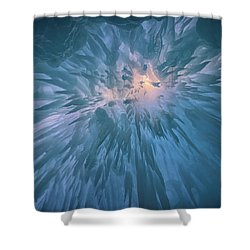 Shower Curtain featuring the photograph Icicles by Rick Berk