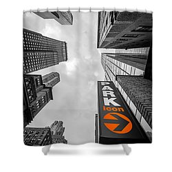 Icon Bw Shower Curtain