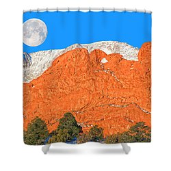 Iconic Garden Of The Gods Shower Curtain by Bijan Pirnia