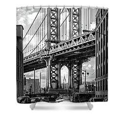 Iconic Manhattan Bw Shower Curtain