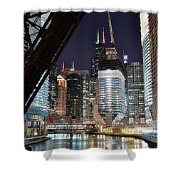 Iconic Windy City Location Shower Curtain