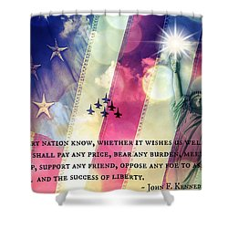 Icons Of Freedom Shower Curtain