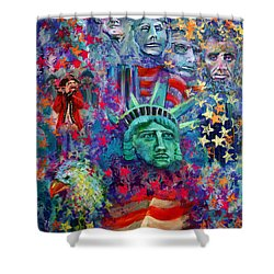 Icons Of Freedom Shower Curtain by Peter Bonk