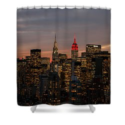 Shower Curtain featuring the photograph Icons Of Nyc by Anthony Fields