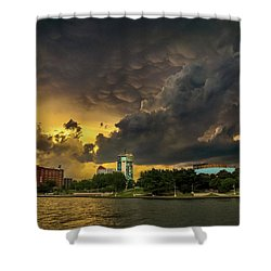 ict Storm - High Res Shower Curtain