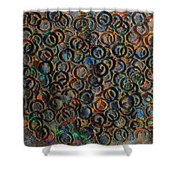 Shower Curtain featuring the mixed media Icy Abstract 12 by Sami Tiainen