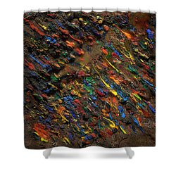 Shower Curtain featuring the mixed media Icy Abstract 5 by Sami Tiainen