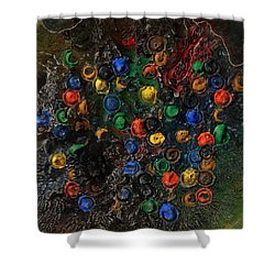 Shower Curtain featuring the mixed media Icy Abstract 7 by Sami Tiainen