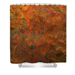 Shower Curtain featuring the mixed media Icy Abstract 8 by Sami Tiainen