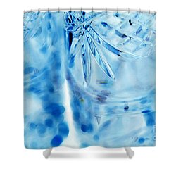 Icy Shower Curtain by Amanda Barcon